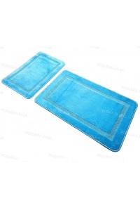 Набор прямоугольных ковриков в ванную Vonaldi 50*80 40*50 на резиновой основе Бирюзовый