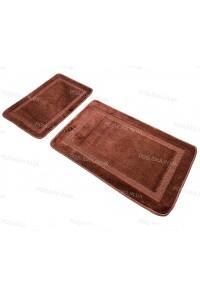Набор прямоугольных ковриков в ванную Vonaldi 50*80 40*50 на резиновой основе Темно-коричневый