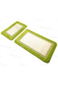 Набор прямоугольных ковриков в ванную Vonaldi 50*80 40*50 на резиновой основе Салатовый