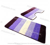 Набор ковриков для ванной и туалета Vonaldi на резиновой основе Фиолетовый