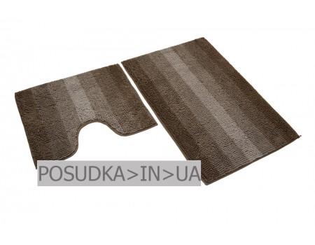 Комплект ковриков для ванной и туалета Махрамат 60*90 + 50*60 см БЕЖЕВЫЙ