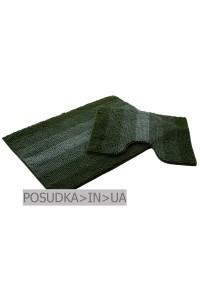 Набор ковриков для ванной Дариана Махрамат ТЕМНО-ЗЕЛЕНЫЙ