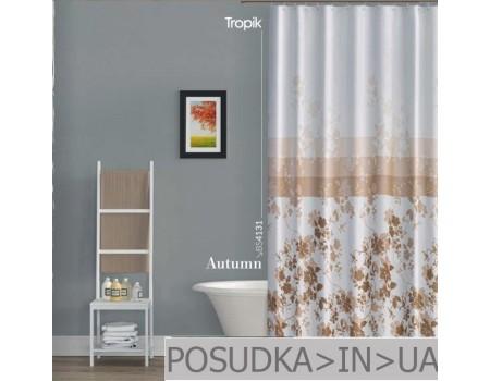 Занавеска для ванн, душа Tropik Autumn BS4131 Осень тканевая