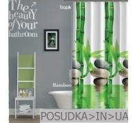 Штора для ванной Tropik Bamboo BS10056 Бамбук тканевая 180*200 см
