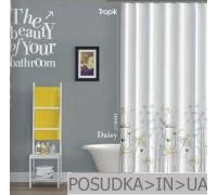 Штора для ванной Tropik Daisy BS8441 Ромашки тканевая 180*200 см