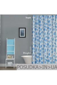 Штора для ванной Tropik Droplet BS5173 Капли тканевая 180*200 см