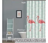 Штора для ванной Tropik Flamingos BS6442 Фламинго тканевая 180*200 см