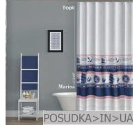 Штора для ванной Tropik Marina BS3157 Морская тематика тканевая 180*200 см