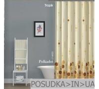 Штора для ванной Tropik Polkadot BS6022 Бежевый горох тканевая 180*200 см