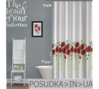 Штора для ванной Tropik Poppy BS7081 Маки тканевая 180*200 см