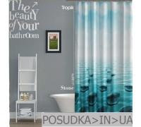 Штора для ванной Tropik Stone BS5975 Морские камни тканевая 180*200 см