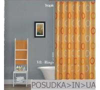 Штора для ванной Tropik V8-Rings BS5033 Оранжевые кольца тканевая 180*200 см