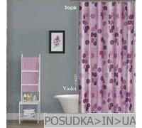 Штора для ванной Tropik Violet BS6227 Фиолетовая тканевая 180*200 см
