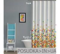 Штора для ванной Tropik World of colors BS8170 Красочный мир тканевая 180*200 см