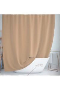 Тканевая штора для душа Jackline Colors BS0010 V3-501 Однотонная бежевая полиестр 180*200 см