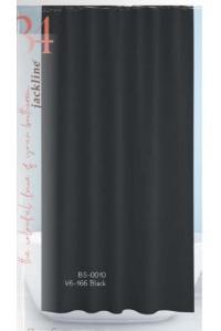 Тканевая штора для душа Jackline Colors BS0010 V6-166 Однотонная черная полиестр 180*200 см