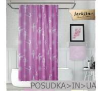 Тканевая штора для душа Jackline Ballerina BS2342 Балерина на розовом полиестр 180*200 см
