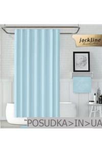 Тканевая штора для душа Jackline Colors BS0010 V1-208 Однотонная голубая полиестр 180*200 см