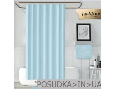 Шторка для ванной из ткани Jackline Colors BS0010 V1-208 Однотонная голубая полиестр