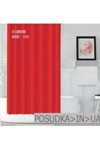 Тканевая штора для душа Jackline Colors BS0010 V2C-198 Однотонная красная полиестр 180*200 см