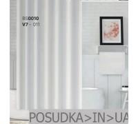 Тканевая штора для душа Jackline Colors BS0010 V7-011 Однотонная белая полиестр 180*200 см