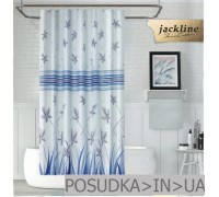 Тканевая штора для душа Jackline Fall BS9918-V1 Голубые цветы полиестр 180*200 см