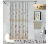 Тканевая штора для душа Jackline Fall BS9918-V3 Бежевые цветы полиестр 180*200 см