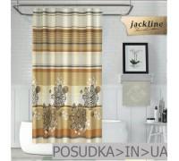 Тканевая штора для душа Jackline Gardenya BS7708 Гардения на бежевом полиестр 180*200 см