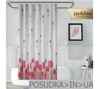 Тканевая штора для душа Jackline Pink Rose BS7017 Розовая роза полиестр 180*200 см