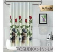 Тканевая штора для душа Jackline Red Rose BS12005 Красные розы полиестр 180*200 см