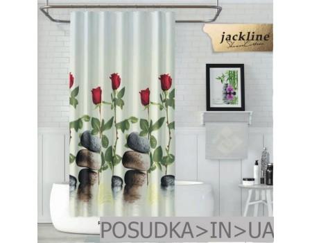 Шторка в душ  Jackline Red Rose BS12005 Красные розы полиестр