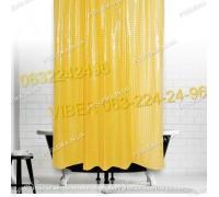 Силиконовая шторка для ванной комнаты с 3 д эффектом оранжевая