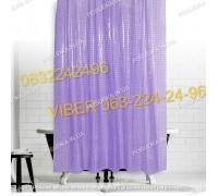 Силиконовая шторка для ванной комнаты с 3 д эффектом фиолетовая