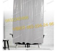 Силиконовая шторка для ванной комнаты с 3 д эффектом прозрачная