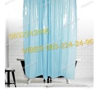 Силиконовая шторка для ванной комнаты с 3 д эффектом голубая