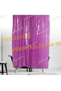 Силиконовая шторка для ванной комнаты с 3 д эффектом розовая