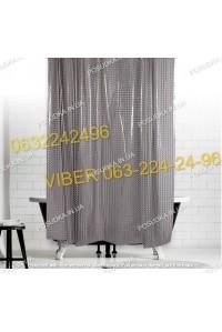 Силиконовая шторка для ванной комнаты с 3 д эффектом серая